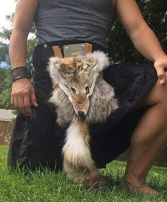 Masked Sporran Coyote scottish celtic bag Scottish Kilt fur Sporran
