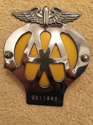 Automotive Club Badges Vintage Aa Badge Auckland