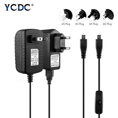Micro Usb Power Supply Adapter Charger For Raspberry Pi 2 3 B Dc5V 2.5A/3A Us/Eu
