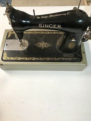 40 SINGER SEWING MACHINE Model 40 With FOOT PEDAL CASE LAMP Unique Singer Electric Sewing Machine 66 18 Value
