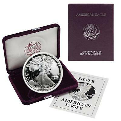 1988-S American Silver Eagle Proof (OGP & Papers)