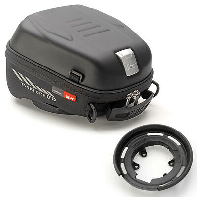 Givi Motorcycle Tank Bag ST605 5L with Adapter for Aprilia Black New