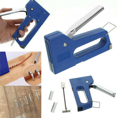 Staple Gun Stapler Stapling Machine Kit w/ 6mm Staples Craft Hobby DIY
