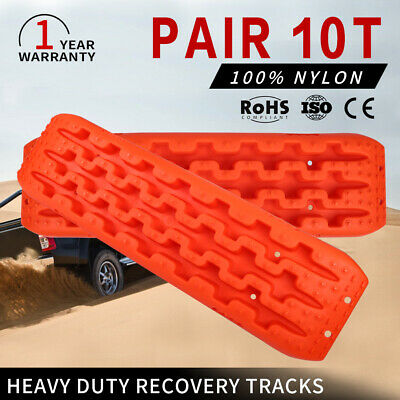 2x Orange 10T Recovery Tracks 4x4 Off Road 4WD Car Sand Snow Mud Tracks 10 Tons