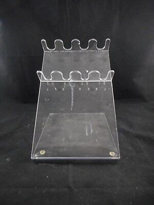"""Laboratory Acrylic Single-Channel Pipette Stand 4-Position 8"""" x 9.5"""" x 10"""" LWH"""