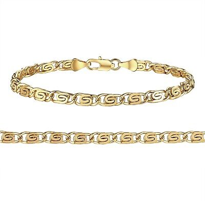 18K Yellow Gold Plated Men&Women's Jewelry Link Bracelet Chain Gift