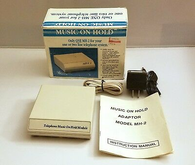 TT Systems Telephone Music on Hold Playback System MH-2 - Vintage