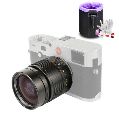 7artisans 28mm/F1.4  Manual Fixed Lens Black for Leica M -Mount+Lens Pouch+ Gift