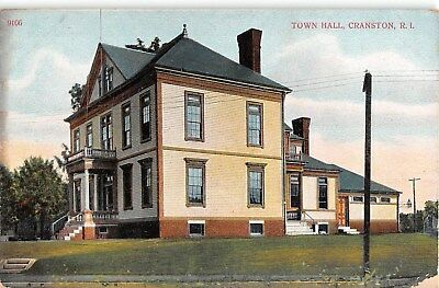 c.1910 Town Hall Cranston RI post card
