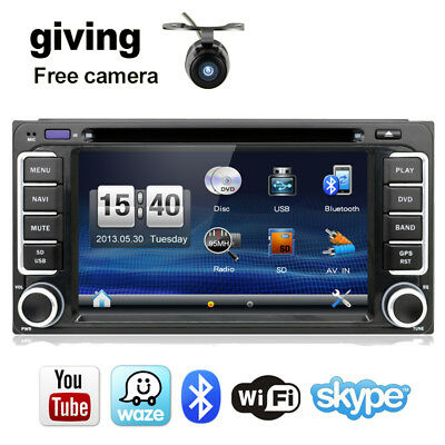 Car DVD Stereo Autoradio GPS Navi CD BLUETOOTH SAT For Toyota Corolla RAV4 Camry