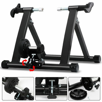 Indoor Exercise Bicycle Cycling Stand Bike Trainer Magnetic 5 level Resistance