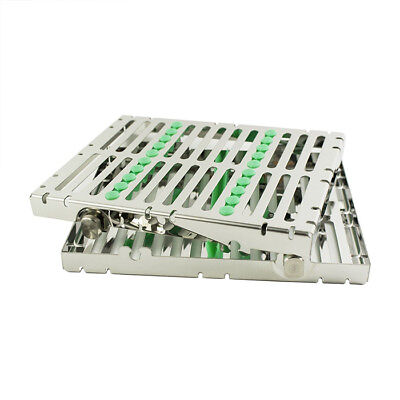 Dental Dentist Sterilization Autoclave Cassette Tray Box for 10 Rack Instrument