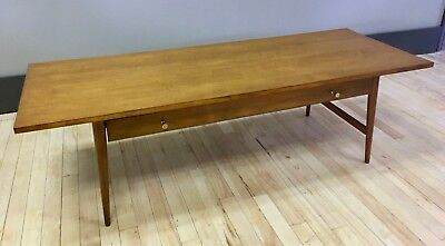 Paul McCobb Solid Maple Coffee Cocktail Table w/ Drawer - Mid-century Modern MCM