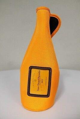 Vueve Clicquot Champagne Bottle Cooler Sleeve Insulator Carrier Yellow