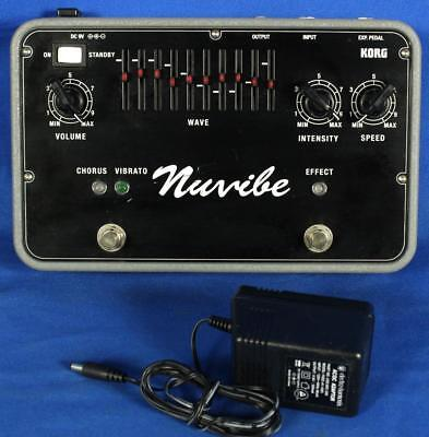 Korg Japan Nuvibe Electric Guitar Chorus Vibrato Effects Effect Pedal w/ Adapter