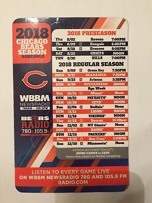 2018 Chicago Bears Magnet AND Pocket Schedule Soldier Field SGA Khalil Mack NFL Christmas Decoration