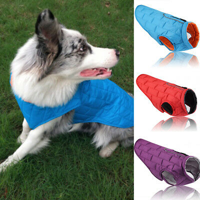 Winter New Warm Autumn Waterproof Pet Dog Clothes Padded Coat Vest Jacket Large