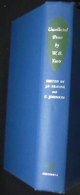 Uncollected Prose by W.B. Yeats, Vol. 2: Reviews, Articles &c 1897-1939 Hbk FINE