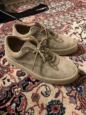 4c9125cb6c636 NWT YEEZY Season 6 Taupe Thick Shaggy Suede Crepe Sneakers Shoes 10 43  595