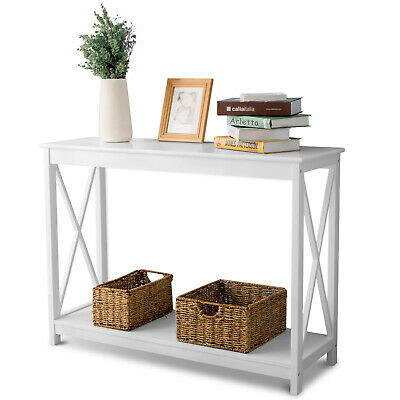 Wooden Console Control Table Side Table End Table Hall Entryway Desk Shelf 110cm