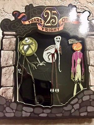 Nightmare Before Christmas Jack Jumbo 3 Pin Set 25 yrs of Fright LE 1500 NEW