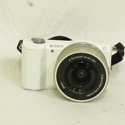 Sony a5000 20.1MP Mirrorless Camera with 16-50mm Lens Kit White ILCE5000L/W