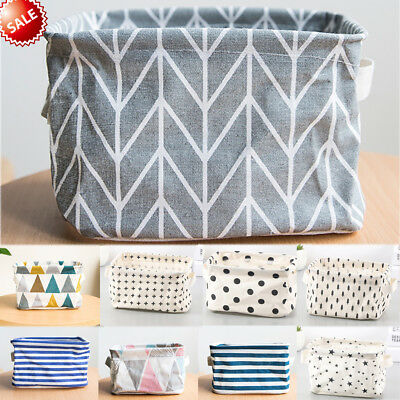 Foldable Linen Storage Bin Closet Container Organizer Fabric Basket Waterproof