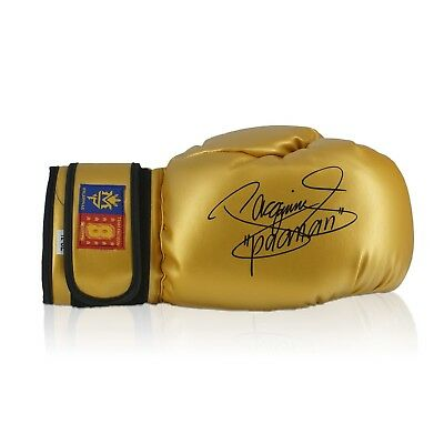 Gold Boxing Glove Signed By Manny Pacquiao Autographed Collectables Memorabilia