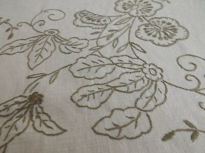 VINTAGE EMBROIDERED 41 x 43 INCHES APPROX TABLE CLOTH