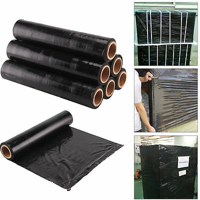 Black Strong Roll Pallet Stretch Shrink Wrap Parcel Packaging CLING Packing FILM