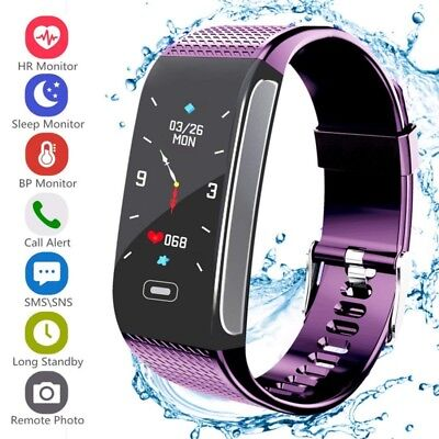 Bluetooth Smart Watch Bracelet Heart Rate Monitor Sport Fitness Tracker Fitbit