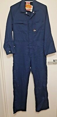 Size 82R MENS Hard Yakka Coverall Overalls Lightweight Cotton Drill Mechanic