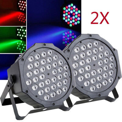 2X 72W RGB 36 LED Spider Beam Moving Head Stage Lighting DMX512 Disco Party Lamp