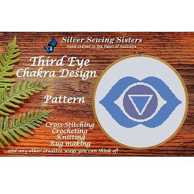 Third Eye Chakra Pattern ~Cross Stitch, Knitting, Crocheting, Rug Making SE40006