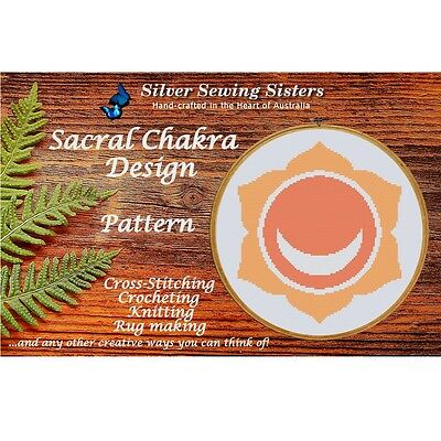Sacral Chakra Pattern ~ Cross Stitch, Knitting, Crocheting, Rug Making SE40002