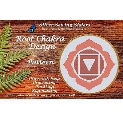 Root Chakra Pattern ~ Cross Stitch, Knitting, Crocheting, Rug Making SE40001