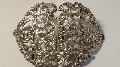 1895 Antique Victorian William Comyns Silver Nurses Buckle