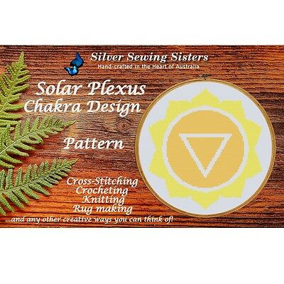 Solar Plexus Chakra Pattern~ Cross Stitch, Knitting, Crochet, Rug Making SE40003