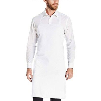 100% Cotton White Bib Waist Tie Chef Apron