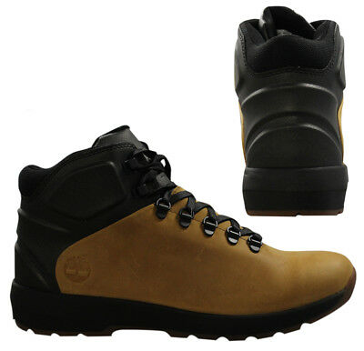 Timberland Mens Westford Mid Leather Boots Premuim Leather Wheat Black A183B D29