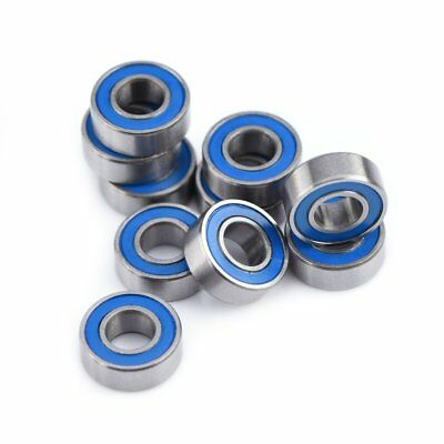 10PCS MR115-2RS Miniature Ball Bearings Double Shielded Blue Cover 5*11*4mm