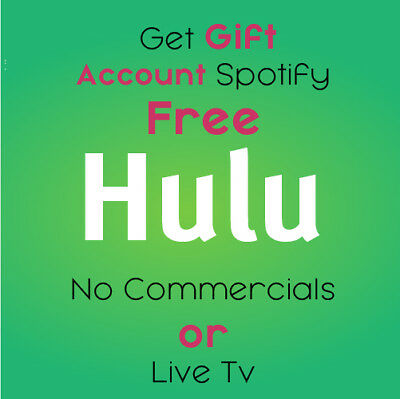 Hulu Premium account No Commercials Fast Delivery . GIFT Account Spotify Free