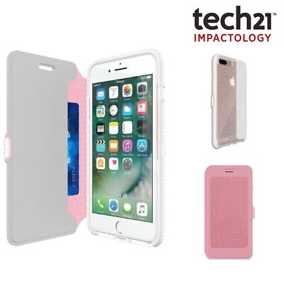 Genuine Tech21 EVO Wallet Active Flip Cover Card Holder Case for iPhone 8/7 Pink
