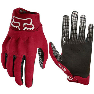 Fox Racing Bomber Lt Motocross Mx Bike Gloves Adult - Dark Red