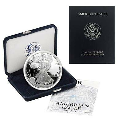 2001-W American Silver Eagle Proof (OGP & Papers)