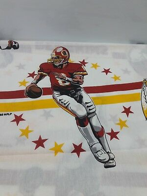 Vintage Redskins 1992 Fabric Material One Large Piece Flat sheet