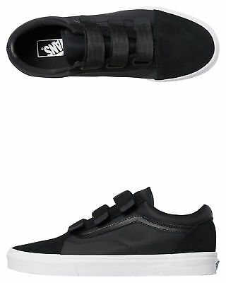 New Vans Women's Womens Old Skool V Shoe Rubber Black