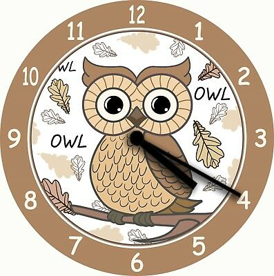 NOVELTY WALL CLOCK - Owl Design (5) - Cute Wall Clock