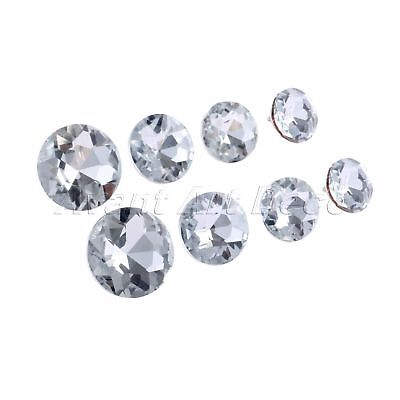 "10Pcs 0.55""-0.87"" Diamond Crystal Upholstery Buttons Home Sofa Chair Decor"
