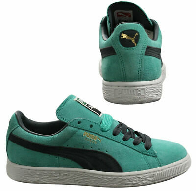 Puma Suede Classic Lace Up Leather Mens Trainers Pool Green 356568 34 B6D